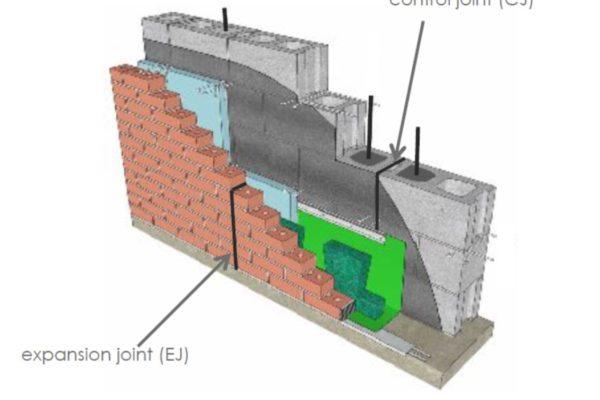 drawing masonry control joints MAC