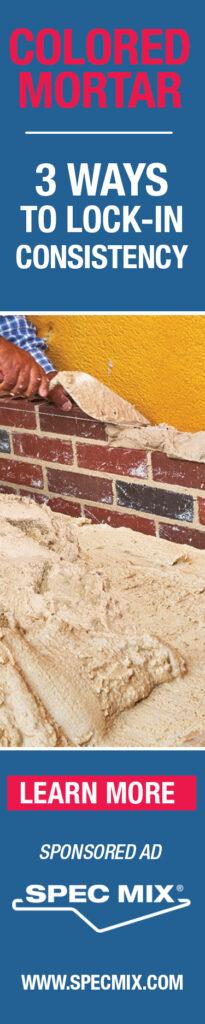 spec mix colored mortar