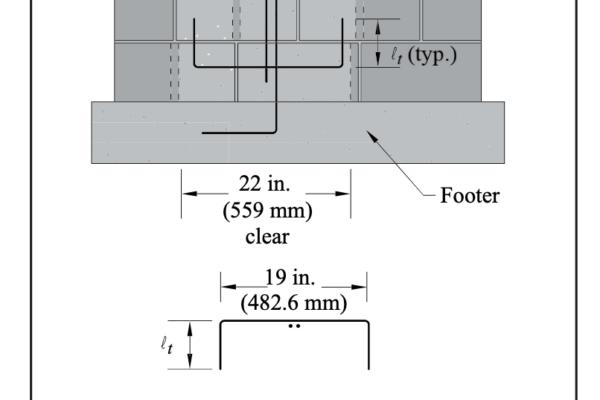 masonry lap lengths